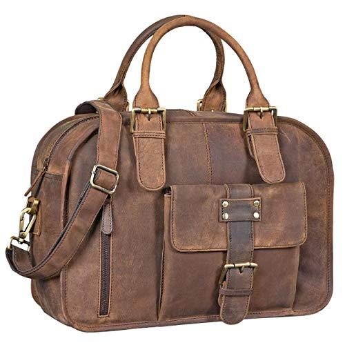 3f8271cb86 ... Stilord · Grand Cartable Stilord en cuir marron Vintage pour femme  enseignante