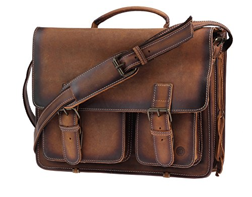 Cartable XL Greenburry marron pour prof