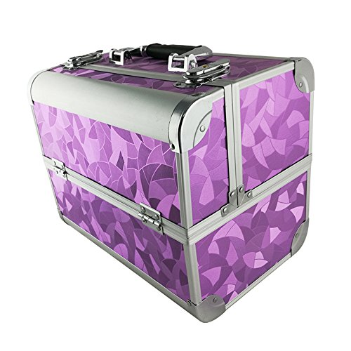Beauty case violet graphique  32 x 21 x 26 cm