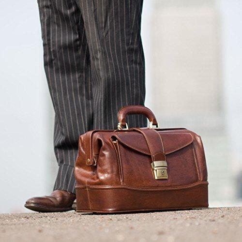 Fermoir tuck à clef pour cette sacoche mallette en cuir noir Doctor Bags (  sac docteur e166bef2dfc
