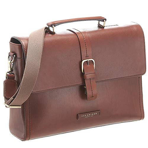 Cartable Serviette pour avocat en cuir cognac The bridge