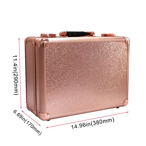 valise maquillage pro glamour Luvodi rose poudrée