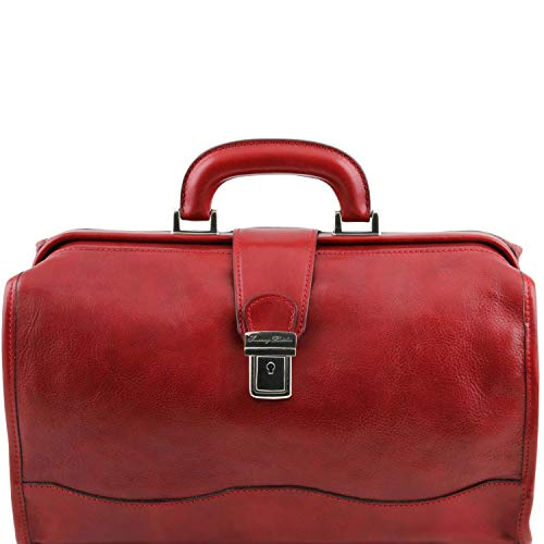 Sac médecin femme doctor bag rouge Tuscany leather